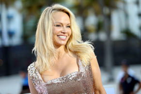 "Pamela Anderson arrives at the U.S. Premiere of ""Baywatch"" at Lummus Park on Sat..."