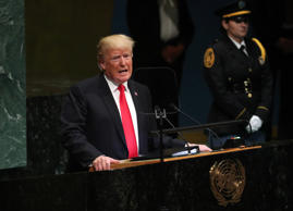 U.S. President Donald Trump addresses the 73rd session of the United Nations Gen...