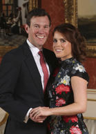 Britain's Princess Eugenie and Jack Brooksbank pose for the media in the Picture...