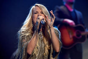 Carrie Underwood performs onstage during the iHeartRadio Music Festival at T-Mob...