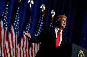 U.S. President Donald Trump speaks at the National Association of Realtors' Legi...