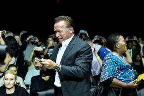 JOHANNESBURG, SOUTH AFRICA - MAY 18:  Arnold Schwarzenegger is seen during the A...
