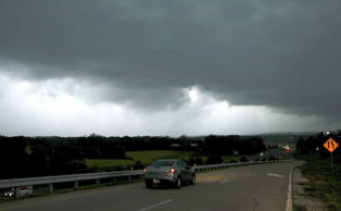 A storm front seen from Chesterfield Parkway westbound onramp to Highway 40 (Int...