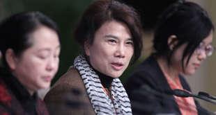 Dong Mingzhu, a deputy to China's 12th National People's Congress (NPC), answers...