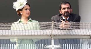 Sheikh Mohammed Bin Rashid Al Maktoum (right) and Princess Haya Bint Al Hussein ...