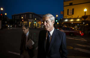 Special counsel Robert Mueller departs dinner at Martin's Tavern in Georgetown, ...