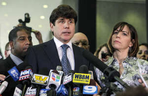 FILE - In this Aug. 17, 2010 file photo, former Illinois Gov. Rod Blagojevich, w...