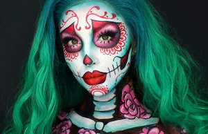 Not your average sugar-skull-inspired look.