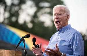Former Vice President Joe Biden addresses the crowd at The Galivants Ferry Stump...