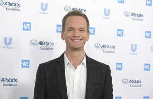 Neil Patrick Harris arrives at WE Day California at The Forum on Thursday, April...