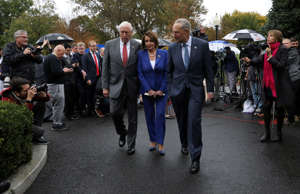 House Majority Leader Steny Hoyer (D-MD), House Speaker Nancy Pelosi (D-CA) and ...