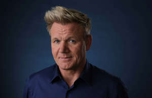 This July 24, 2019 photo shows chef and TV personality Gordon Ramsay posing for ...