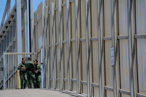 U.S. Customs and Border Protection agents patrol the United States-Mexico border...