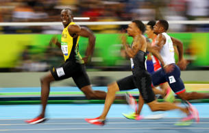 AP FEED: In 2016, Usain Bolt of Jamaica became the first person to win three str...