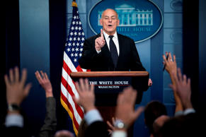 White House Chief of Staff John Kelly speaks about President Trump's calls to fa...