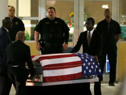 The casket of Sgt. La David T. Johnson of Miami Gardens, who was killed in an am...