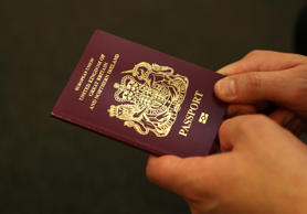 File photo of a British passport
