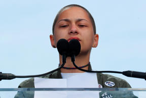 Emma Gonzalez, a student and shooting survivor from the Marjory Stoneman Douglas...