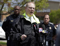 Don Aaron, public affairs manager for the Metro Nashville Police Department, spe...