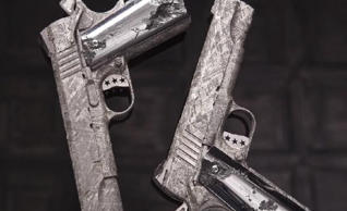 Pistols made from old meteorite
