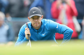 Rory McIlroy in action