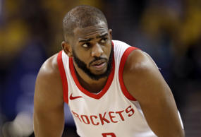 Houston Rockets' Chris Paul during the second half in Game 4 of the NBA basketba...