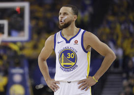 Golden State Warriors guard Stephen Curry during the first half of Game 6 of the...
