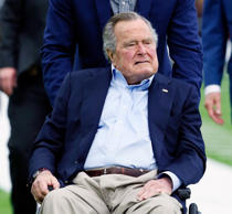 Former President George H.W. Bush in Houston, Texas.