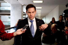 Senator Marco Rubio (R-FL) arrives for a Senate Intelligence Committee hearing e...