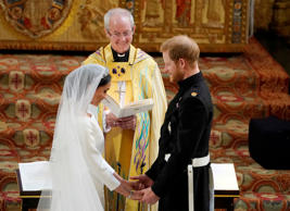 Prince Harry and Meghan Markle exchange vows in St George's Chapel at Windsor Ca...