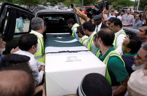 The body of Pakistani exchange student Sabika Sheikh, who was killed in the Sant...
