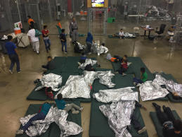 Customs and Border Patrol released five pictures from inside the McAllen, Texas ...