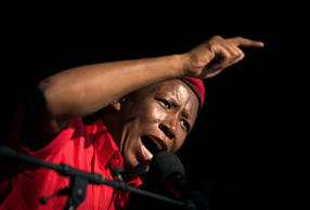 Leader of the South African radical-left opposition party Economic Freedom Fight...