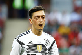 MOSCOW, RUSSIA - JUNE 17: Mesut Ozil of Germany is seen during the 2018 FIFA Wor...