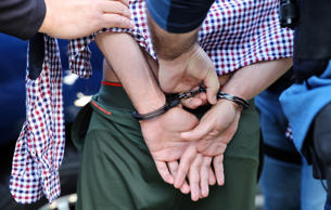 U.S. Immigration and Customs Enforcement (ICE) Assistant Field Officers arrest a...