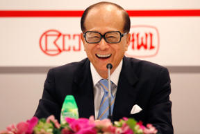 Hong Kong's Richest Man Li Ka-shing Chairman of Hutchison Whampoa Ltd and Cheung...