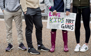 Washington, D.C., area students and supporters protest against gun violence outs...