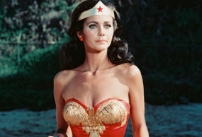 Lynda Carter, US actress, in costume in a publicity still issue for the US telev...
