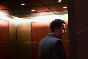 House Intelligence Committee Chairman Rep. Devin Nunes, R-Calif., gets on an ele...