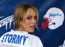 FILE: Adult film actress/director Stormy Daniels hosts a Super Bowl party at Sap...