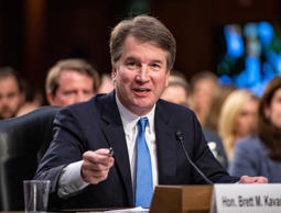 Judge Brett Kavanaugh testifies during the second day of his Senate Judiciary Co...