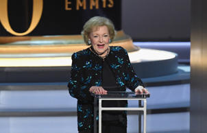 LOS ANGELES, CA - SEPTEMBER 17: Betty White speaks onstage during the 70th Emmy ...