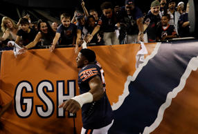 Chicago Bears linebacker Khalil Mack (52) after an NFL football game against the...