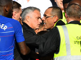 Mourinho and Sarri clashed at the end of the game