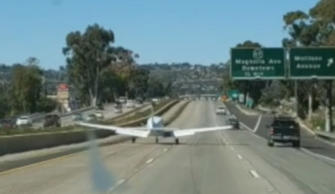 Plane makes emergency landing on California highway