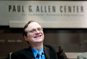 Paul Allen, Microsoft co-founder    for the dedication of the Paul G. Allen Cent...