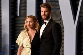 Miley Cyrus and Liam Hemsworth attend the 2018 Vanity Fair Oscar Party Hosted By...