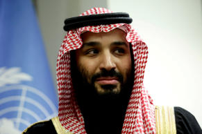 Saudi Arabia's Crown Prince Mohammed bin Salman during a meeting at the United N...