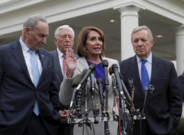 House Speaker Nancy Pelosi (D-CA), Senate Democratic Leader Chuck Schumer (D-NY)...