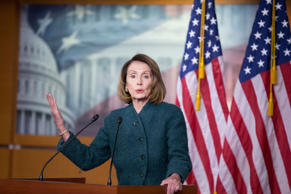 US Speaker of the House Democrat Nancy Pelosi holds a news conference on Capitol...